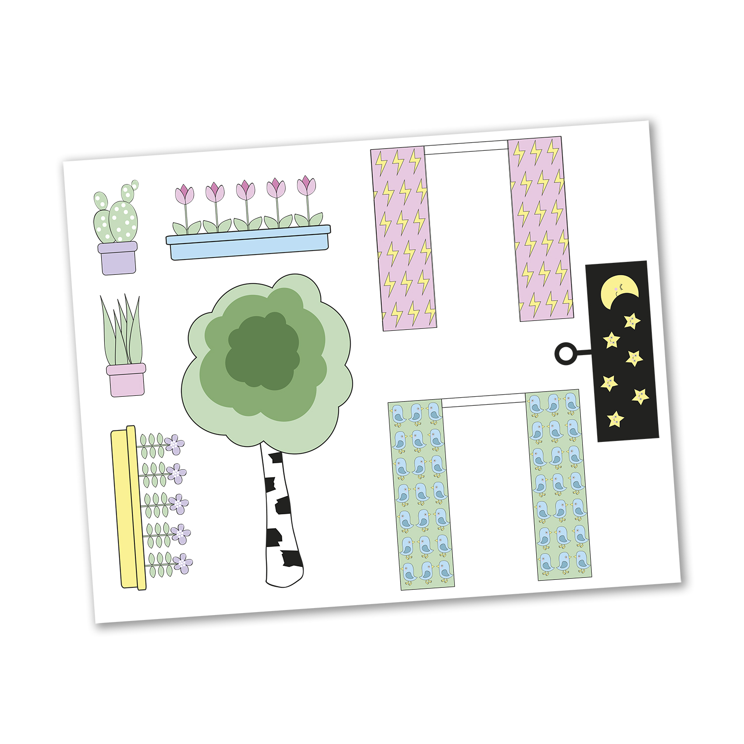 LUNDBY STICKERSET BLOMMOR
